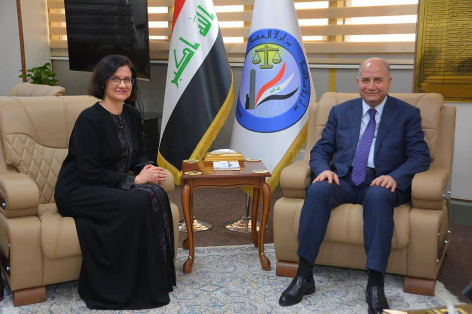 The Minister of Justice receives the delegation of the International Organization for Missing Persons in Iraq 244620_%D8%A7%D8%B3%D9%88%D9%88%D9%8878